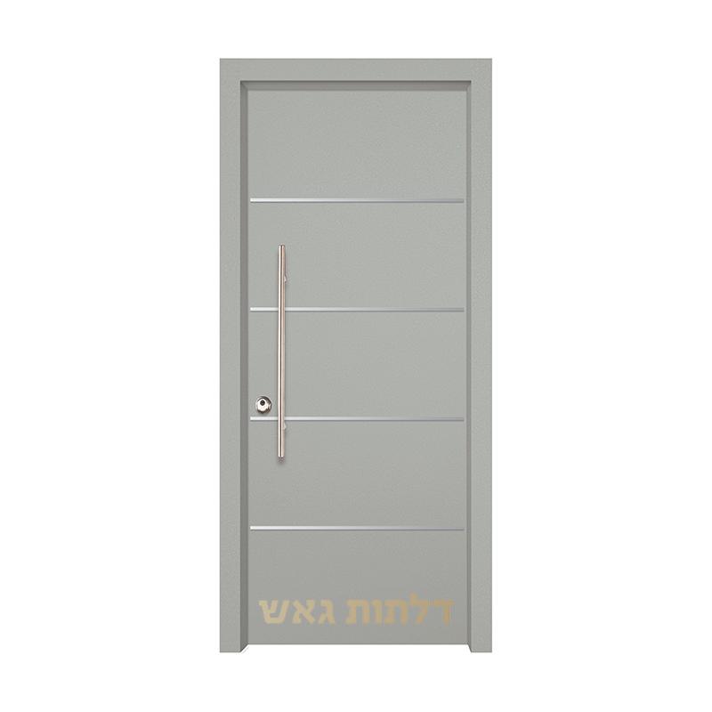 דלת כניסה שיק 3015 צבע 0096-אפור בהיר
