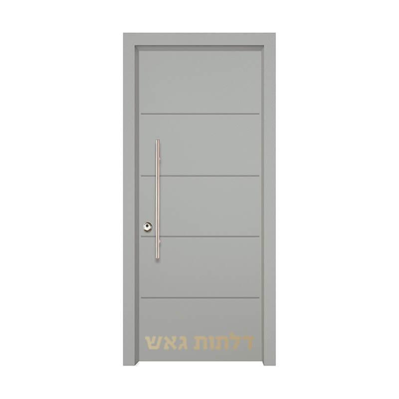 דלת כניסה שיק 3018 צבע 0096-אפור בהיר