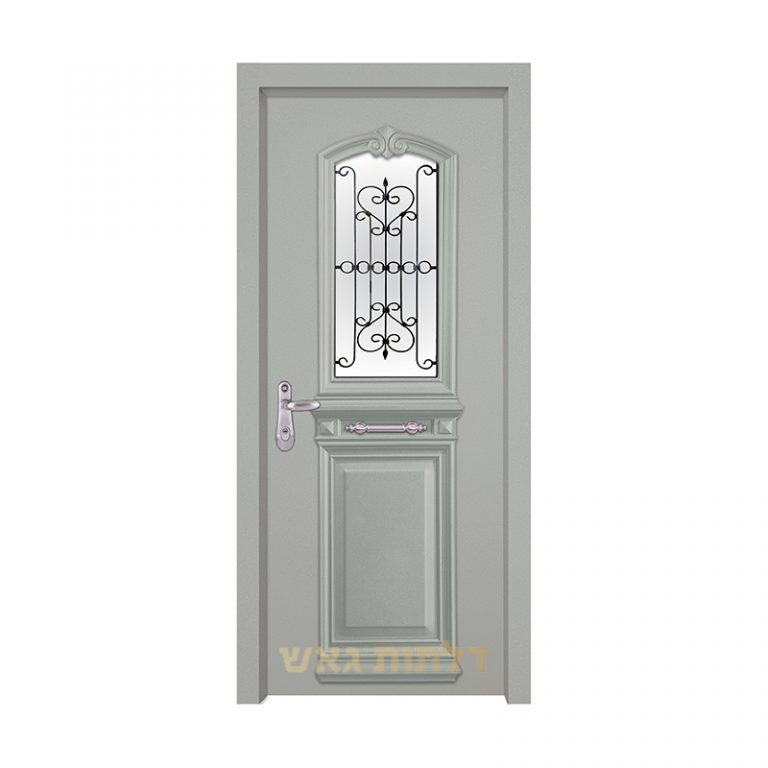דלת כניסה מעוצבת 7001-2 צבע 0096-אפור בהיר
