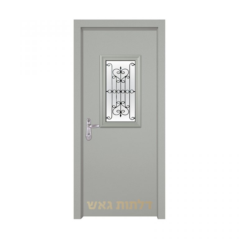 דלת כניסה מעוצבת 7004-2 צבע 0096-אפור בהיר