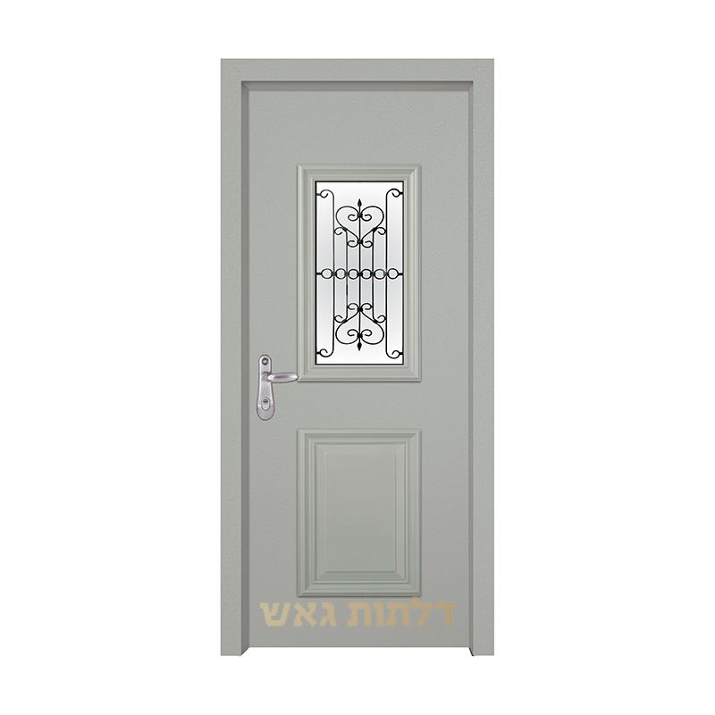דלת כניסה מעוצבת 7008-2 צבע 0096-אפור בהיר