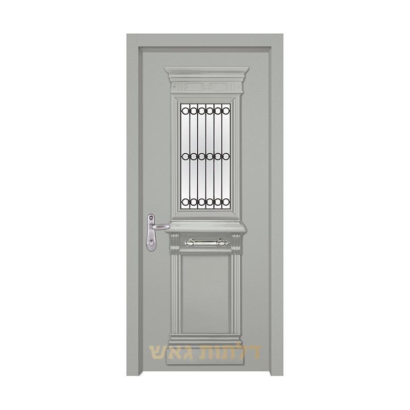 דלת מעוצבת 7014-1 צבע 0096-אפור בהיר