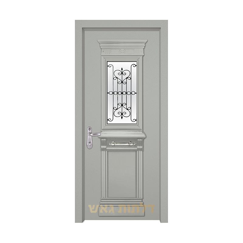 דלת כניסה מעוצבת 7014-2 צבע 0096-אפור בהיר