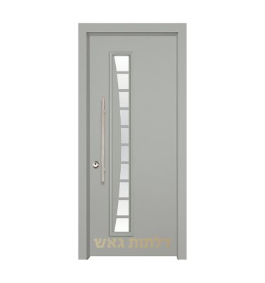 דלת כניסה מעוצבת 7030 צבע 0096-אפור בהיר