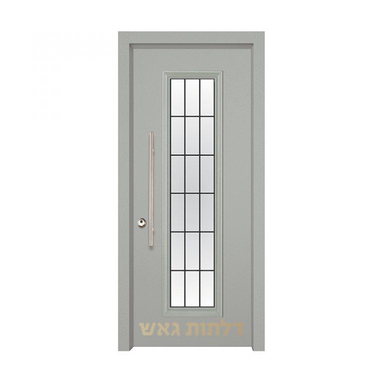 דלת כניסה מעוצבת 7050-20 צבע 0096-אפור בהיר