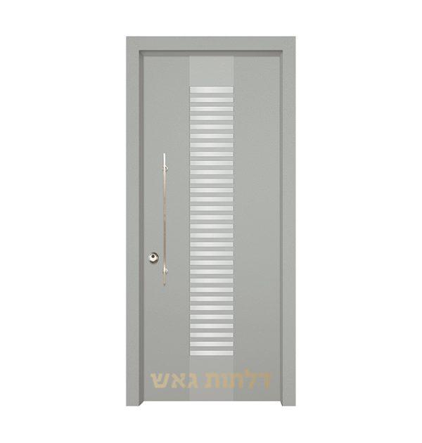 דלת כניסה מעוצבת 7070 צבע 0096-אפור בהיר