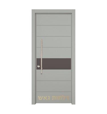 דלת כניסה הייטק 8004 צבע 0096-אפור בהיר