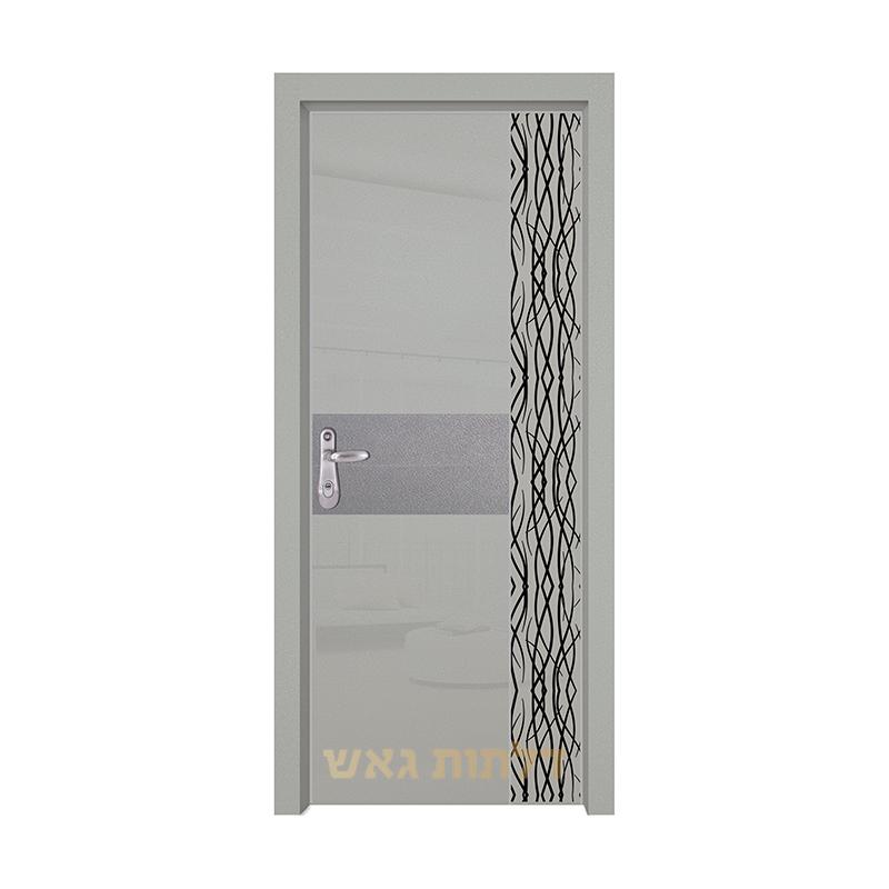 דלת כניסה היי-טק 8007B2 צבע 0096-אפור