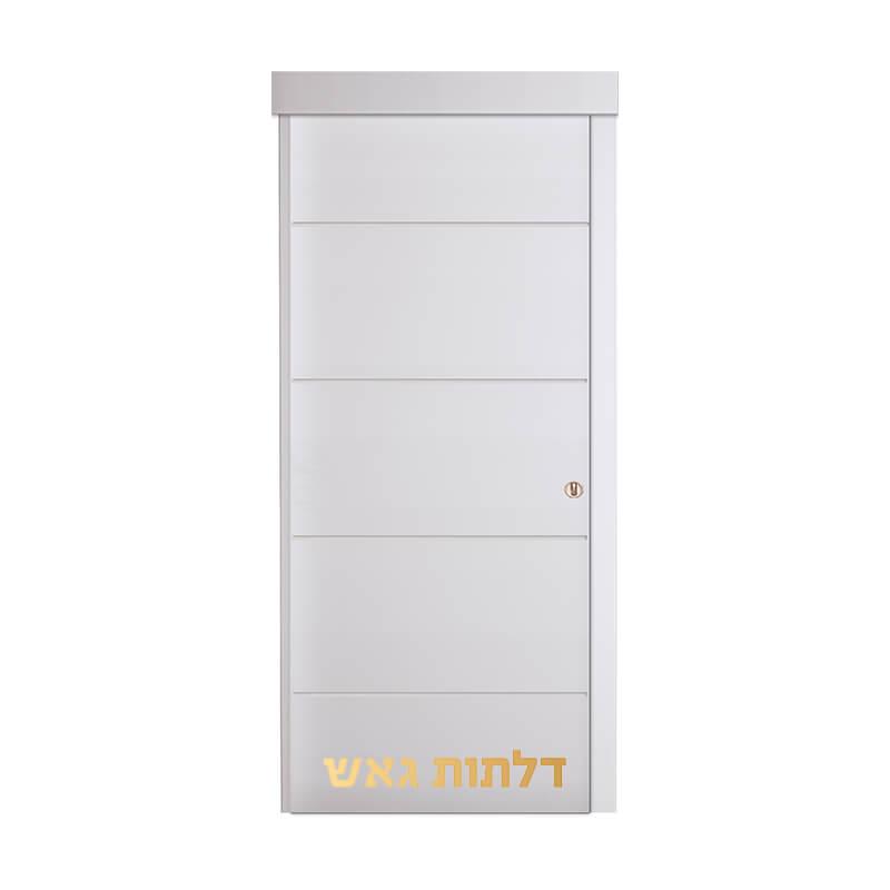 דלת הזזה על-הקיר CIP לבן