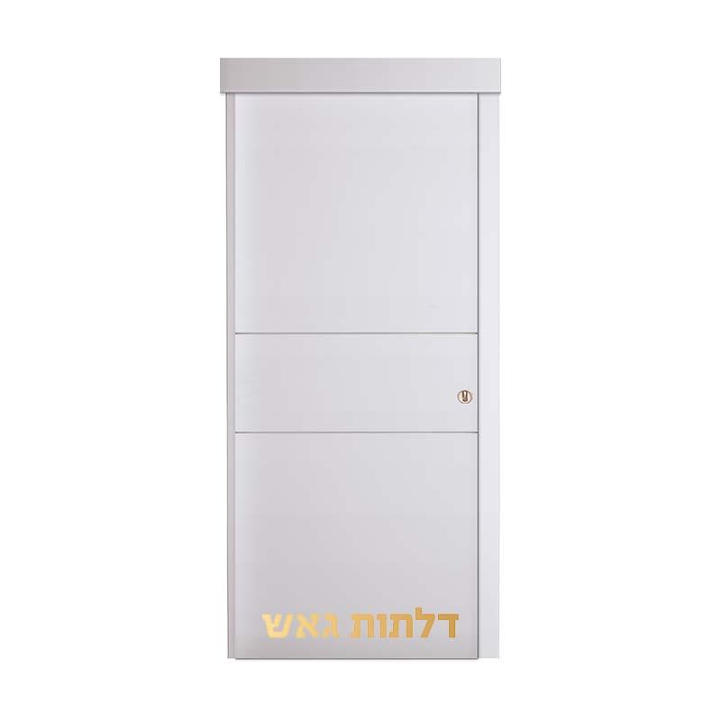 דלת הזזה על-הקיר A1 לבן