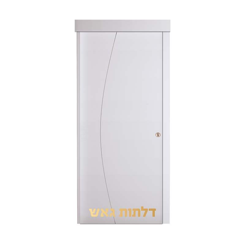 דלת הזזה על-הקיר D1 לבן