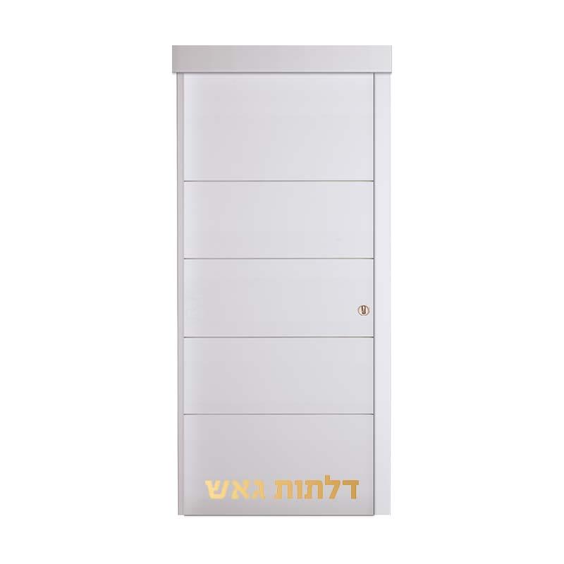 דלת הזזה על-הקיר E1 לבן