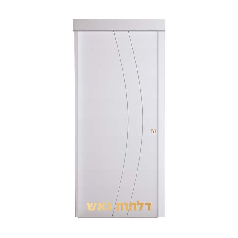 דלת הזזה על-הקיר G1 לבן