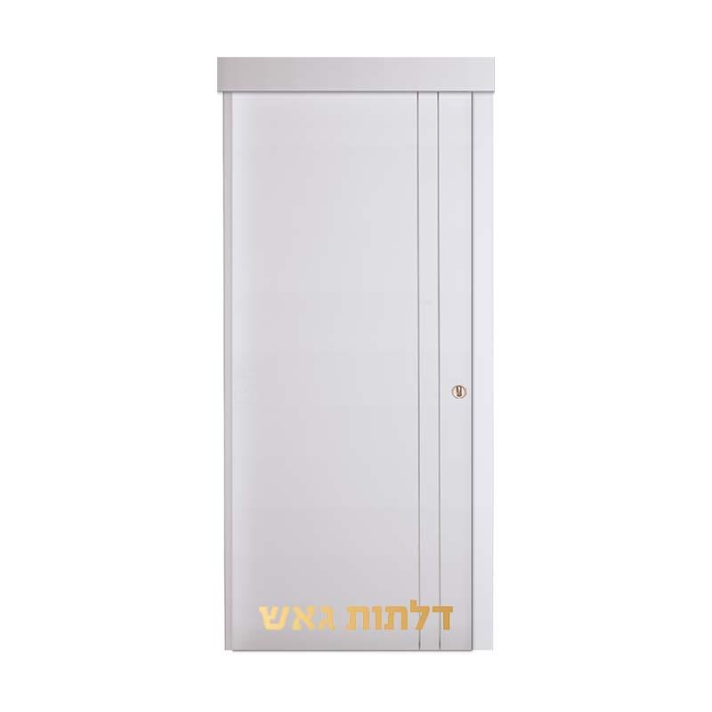 דלת הזזה על-הקיר H1 לבן
