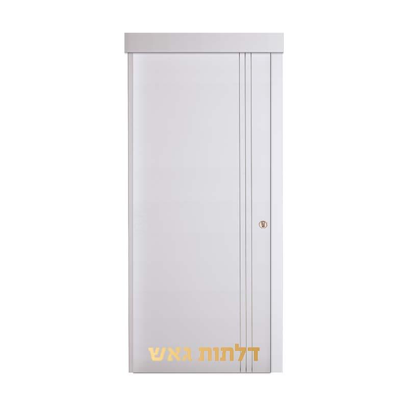 דלת הזזה על-הקיר K1 לבן