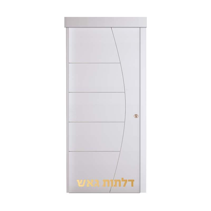 דלת הזזה על-הקיר R1 לבן