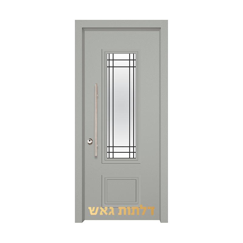 דלת כניסה מעוצבת 7020-10 0096-אפור בהיר