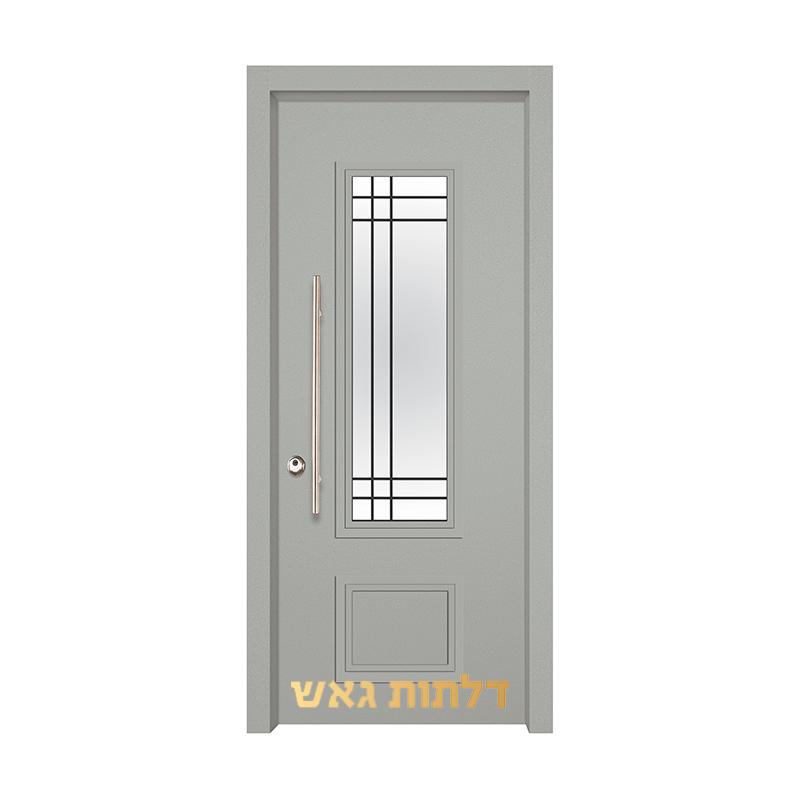 דלת כניסה מעוצבת 7020-11 0096-אפור בהיר