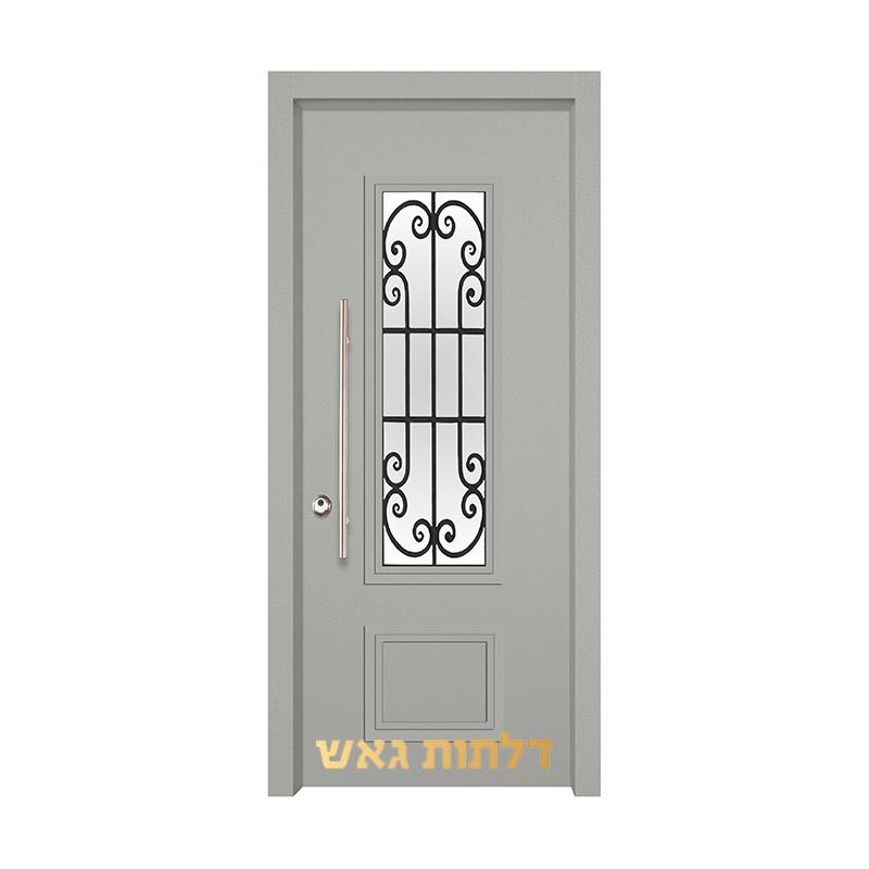 דלת כניסה מעוצבת 7020-25 0096-אפור בהיר