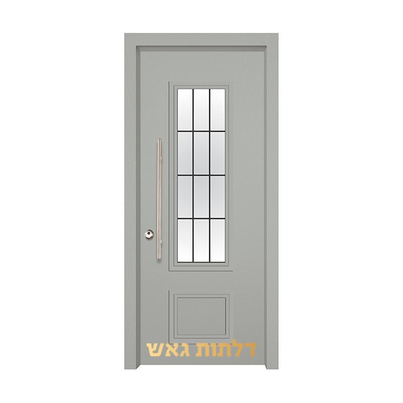 דלת כניסה מעוצבת 7020-27 0096-אפור בהיר