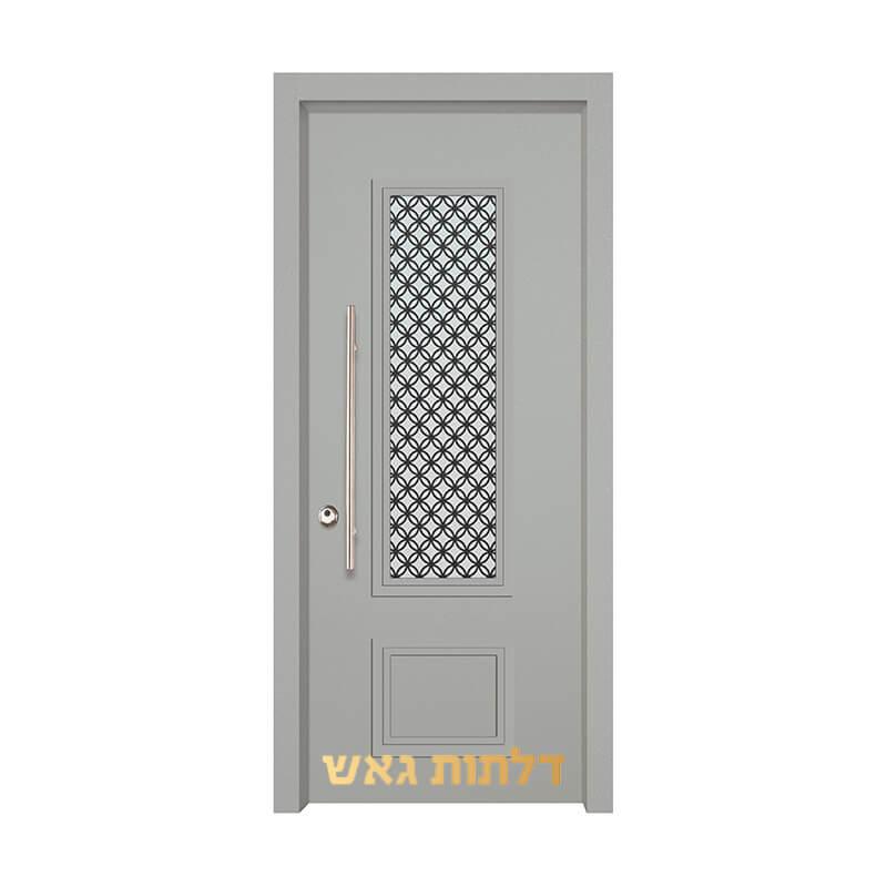 דלת כניסה מעוצבת 7020-56 0096-אפור בהיר