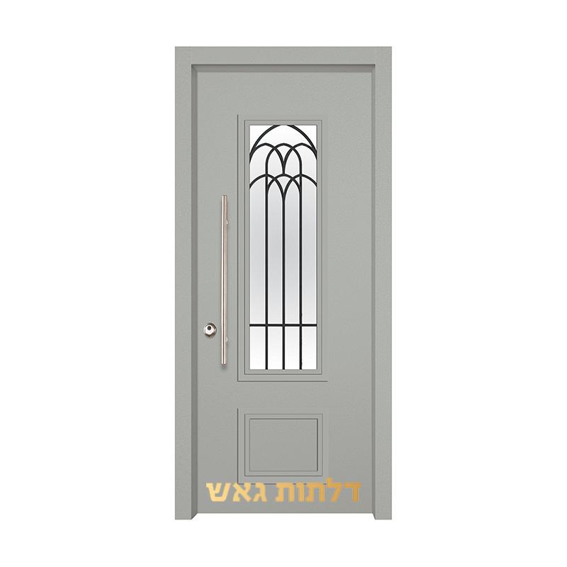דלת כניסה מעוצבת 7020-57 0096-אפור בהיר