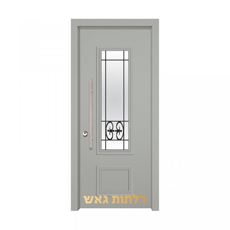 דלת כניסה מעוצבת 7020-8 0096-אפור בהיר