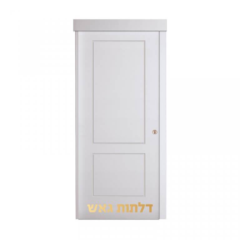 דלת הזזה על-הקיר SSB לבן