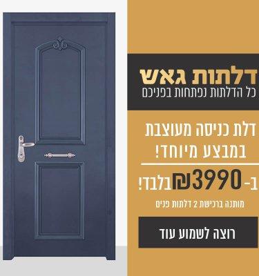 """דלת כניסה במבצע 3990 ש""""ח"""